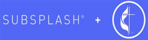 """Subsplash"" plus UMC flame and cross logo"
